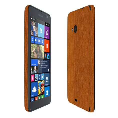 skinomi techskin microsoft lumia 535 light wood skin