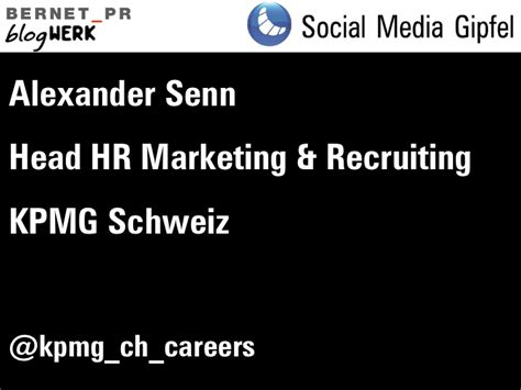 kpmg si鑒e social social media gipfel november 2011 hr und recruiting kpmg