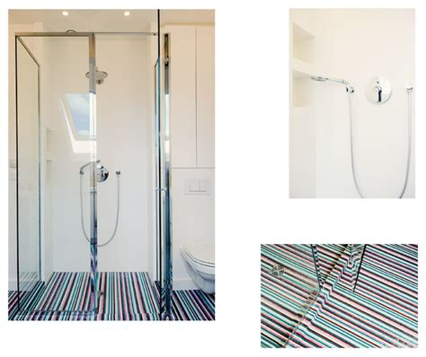Corian Flooring Bathroom Chrome Shower Stall Corian Walls Bisazza Mosaic Tile