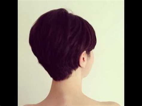 long layered pixie back view long pixie cut back view