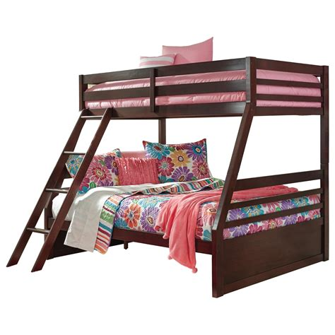 ashley furniture bunk bed ashley signature design halanton solid pine twin full bunk