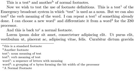 layout verb definition advanced footnote layout with word definition tex