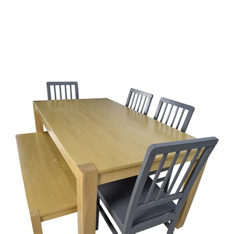 wooden bench dining set 48 off wooden dinner set with bench seat tables