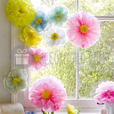 fiori con carta velina fiori giganti di carta velina da appendere