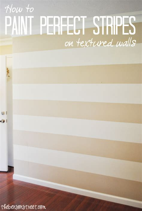 painting stripes on textured walls how to paint stripes on a textured wall the