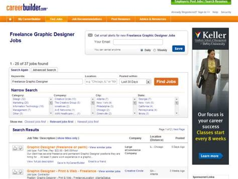 graphic design google jobs 25 places to find freelance graphic design jobs