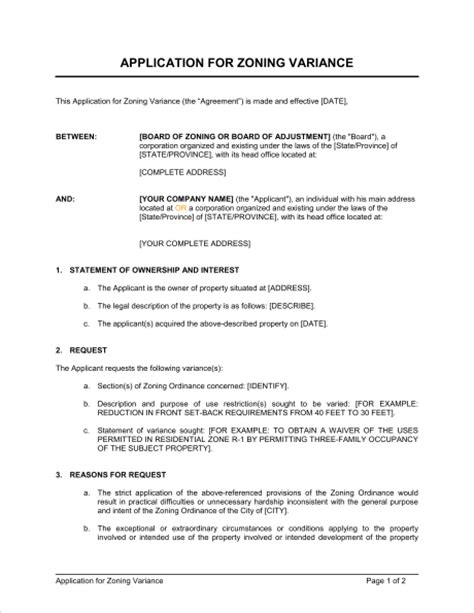 Sle Zoning Request Letter Sle Letter For Zoning Variance Sle Business Letter