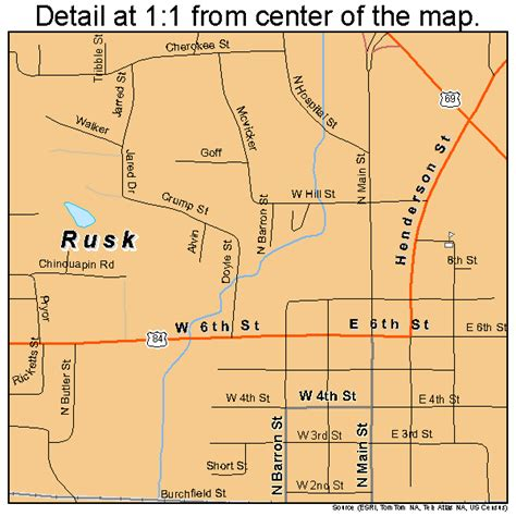 rusk texas map rusk texas map 4863848