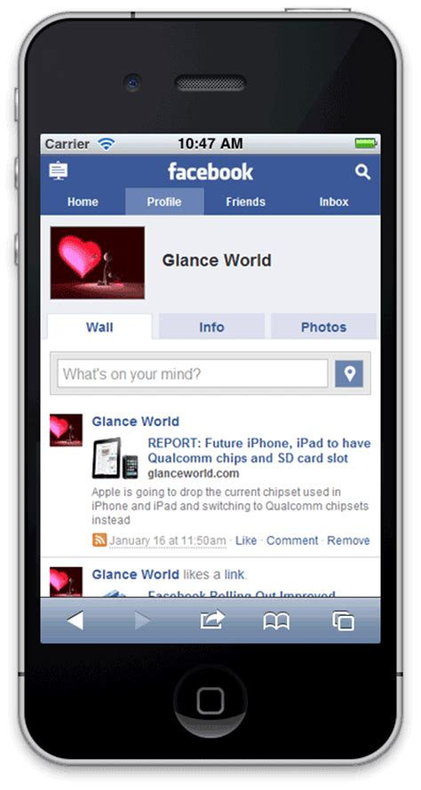 mobile fb rolling out mobile user interface for all phones