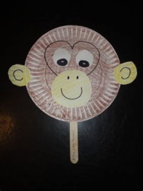 monkey paper plate craft monkey craft idea for crafts and worksheets for