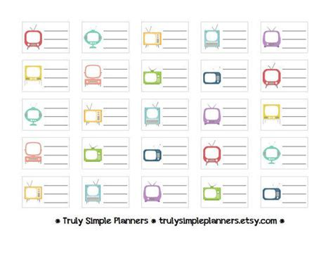 printable tv stickers printable tv shows stickers erin from trulysimpleplanners on