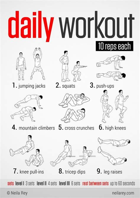 easy daily workout this would be great to do during the holidays when fitting in a workout