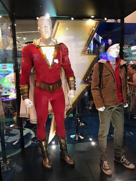 sdcc  wb displays shazam aquaman titans costumes