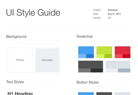 Style Guide Template Word by Style Guide Template E Commercewordpress