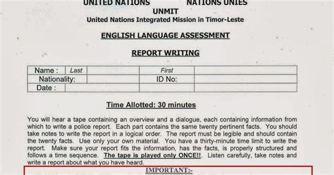 International Report Writing Format by Report Writing Format Career International