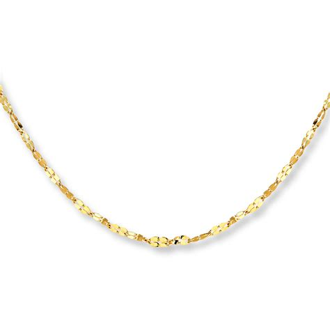 jewelry chain jared link chain necklace 14k yellow gold 18 quot length