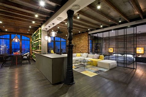 loft appartment high end bachelor pad design stunning loft in kiev by