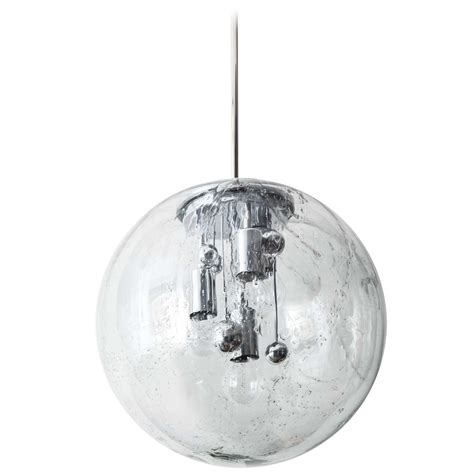 Extra Large Glass Globe Pendant By Doria Two Available At Large Glass Globe Pendant Light