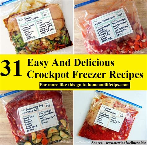 crockpot freezer cookbook 30 easy delicious freezer meals that cut your cooking time in half books 31 easy and delicious crockpot freezer recipes home and