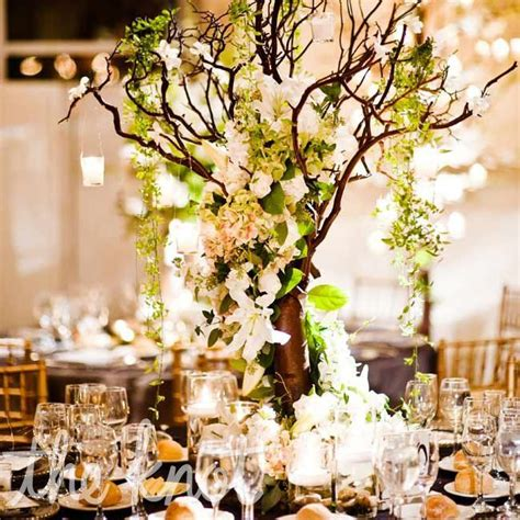 tree centerpiece branch centerpieces