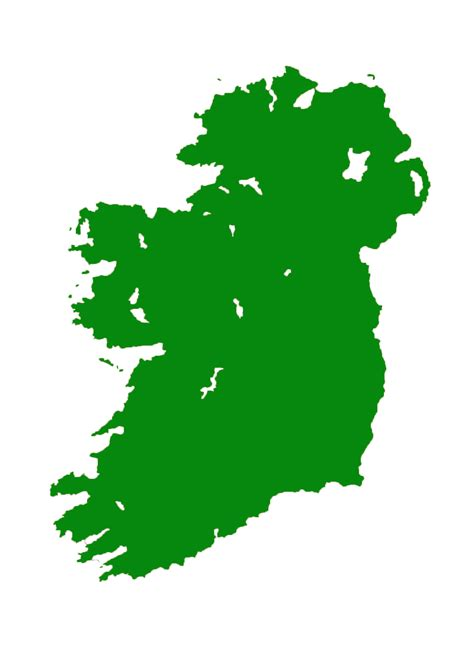 County Map Of Ireland Outline by Outline Map Of Ireland Clipart Best