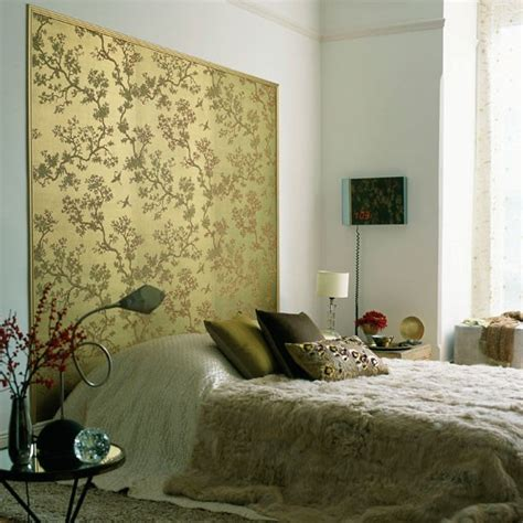 bed wallpaper make an eye catching headboard bedroom wallpaper ideas