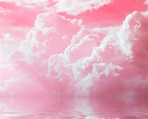 wallpaper pink sky pink sky amazing pink clouds water sky nature hd