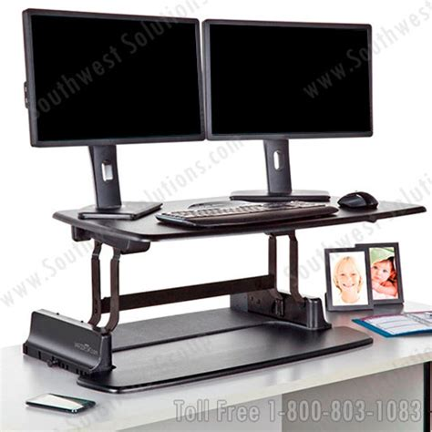 Variable Height Computer Desk Adjustable Height Desk Platforms Sit And Stand Up Workstations