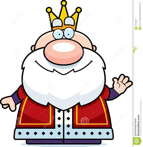 Of A King waving king stock vector image 47715241