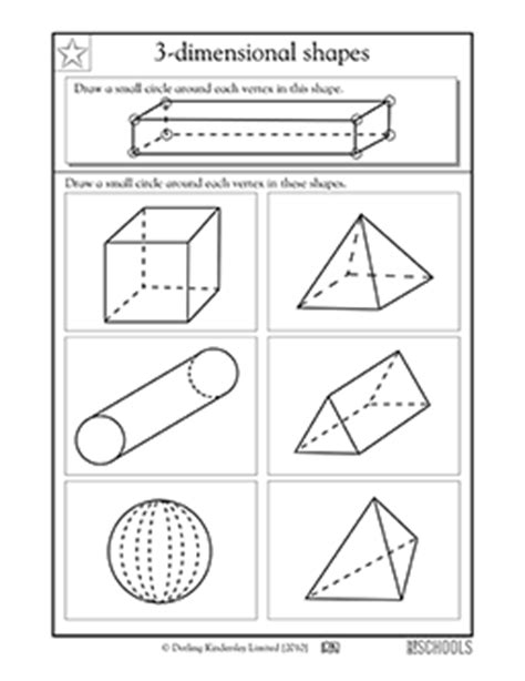 Three Dimensional Shapes Worksheets For Grade by 3rd Grade 4th Grade Math Worksheets 3 D Shapes