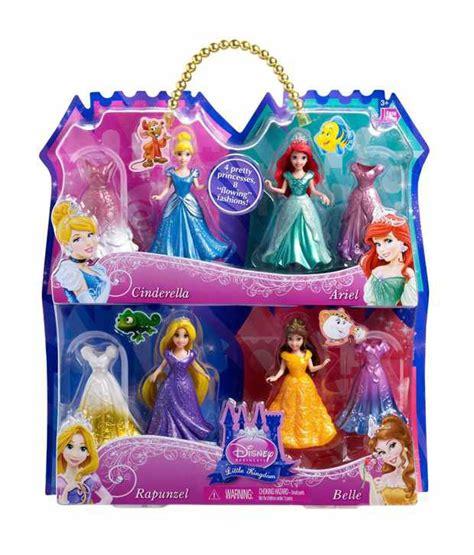 new disney set of 4 mattel disney princess magiclip set of 4 fashion doll buy mattel disney princess magiclip set