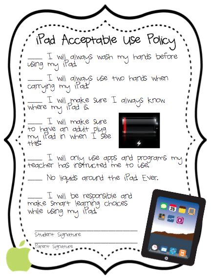Soaring Acceptable Use Policies For Kids Freebie Student Acceptable Use Policy Template