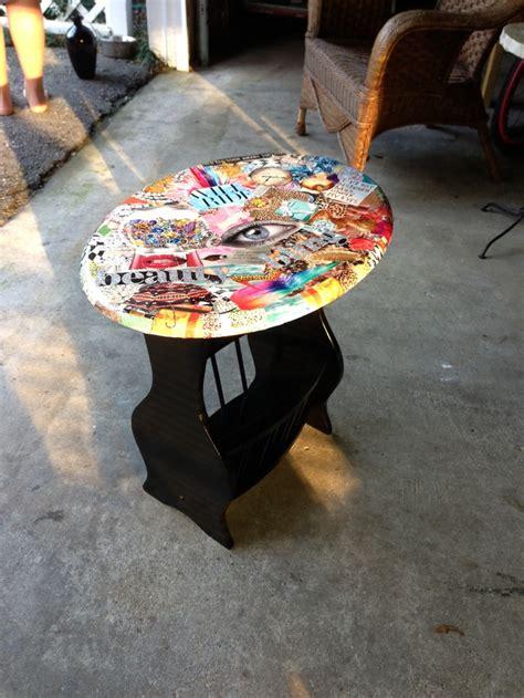 diy modge podge  table diy diy furniture makeover