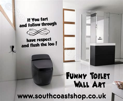 Sports Wall Stickers For Bedrooms if you fart amp follow through rude toilet wall sticker