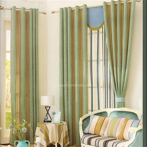 modern pattern curtains causal modern curtains stripe pattern green chenille 2016