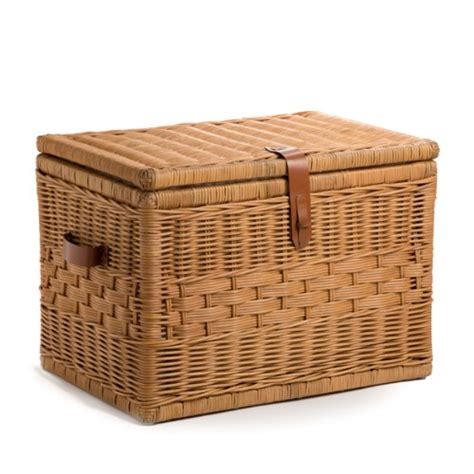 Wicker Coffee Table Storage Rattan Trunk Coffee Table