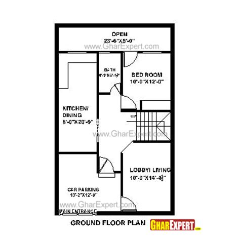 house plan for 25 feet by 40 feet plot plot size 111