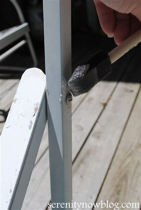 Removing Paint From Metal Furniture by Serenity Now How To Clean And Paint Vintage Metal Patio