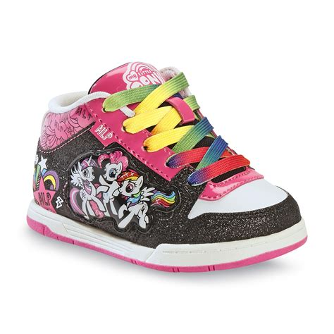 my pony sneakers hasbro my pony toddler s glittered black multi