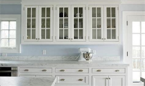 Modern White Kitchen Cabinets With Glass Doors My White Glass Door Kitchen Cabinets