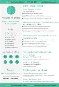 Front End Web Developer Sle Resume by Aseefa Front End Developer And Ux Designer Resume