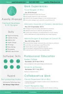 Front End Developer Sle Resume by Aseefa Front End Developer And Ux Designer Resume