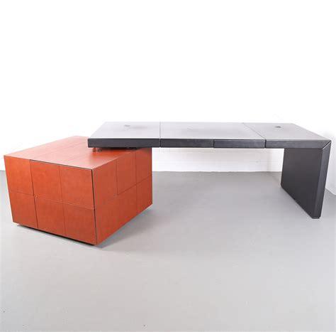 Lella Massimo Vignelli Leder Schreibtisch Leather Office