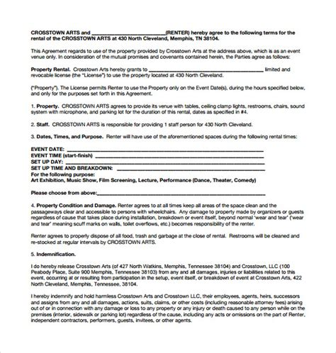 sle generic rental agreement 7 documents in pdf word