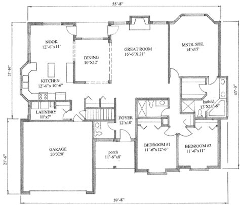 traditional style house plan 3 beds 2 5 baths 1900 sq ft
