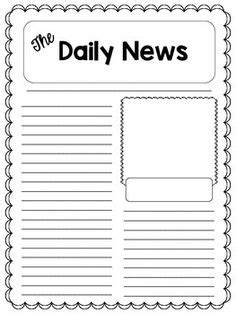 Blank Newspaper Template World Of Label Printable Newspaper Article Template For Students