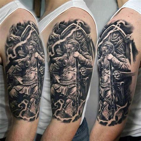 warrior tattoo sleeve designs 90 cool arm tattoos for guys manly design ideas
