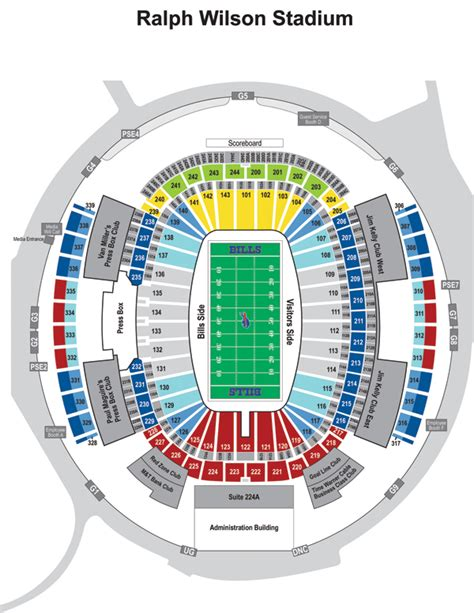 ralph wilson seating chart ralph wilson stadium seating diagram