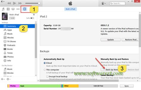 reset software ipad backup and restore ipad in itunes