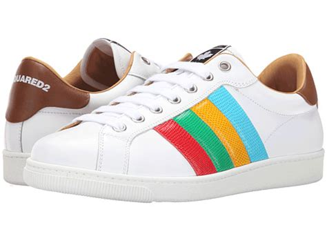 dsquared2 santa striped tennis shoe at 6pm